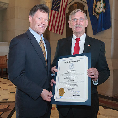 photo of Senator Fonfara and Lucian Pawlak.