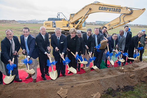 photo of Senator Larson at ground breaking.