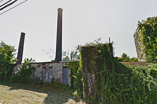 Photo of Baltic Mills site.